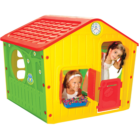Domeček VILLAGE - red / yellow / green Buddy toys - - - ks