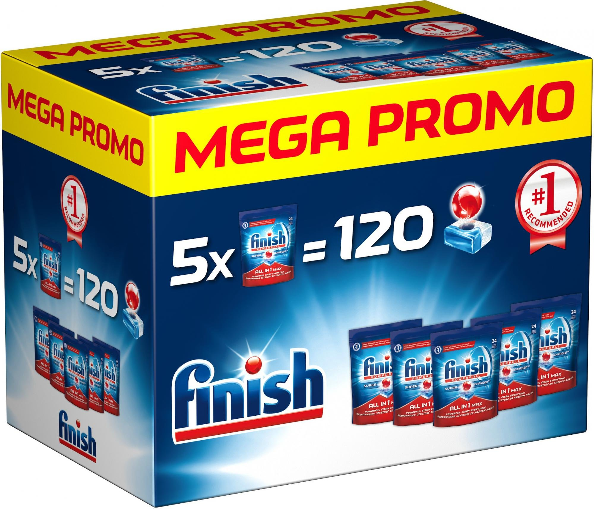 Finish All in1 Max 120 ks tabs - - - ks