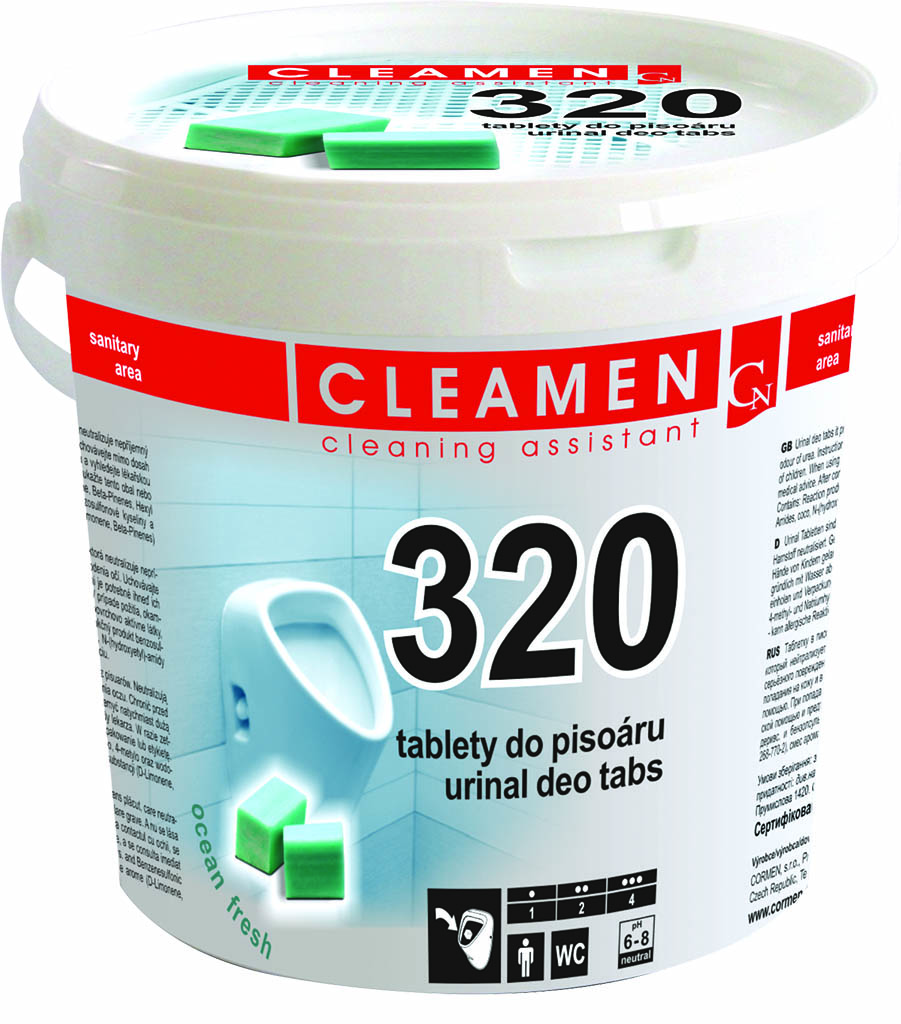 Cleamen 320 tablety do pisoáru 1,5kg, , ocean fresh - - - ks