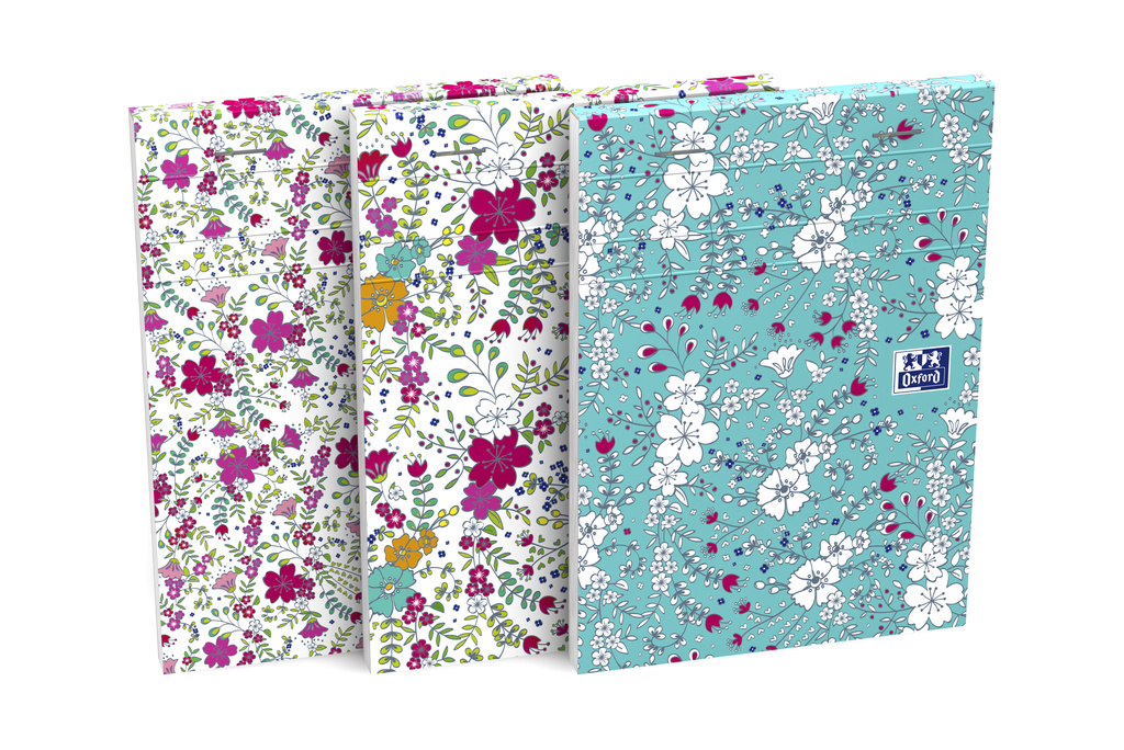 blok lepený A6/80l linka OXFORD Floral mix motivů - - -