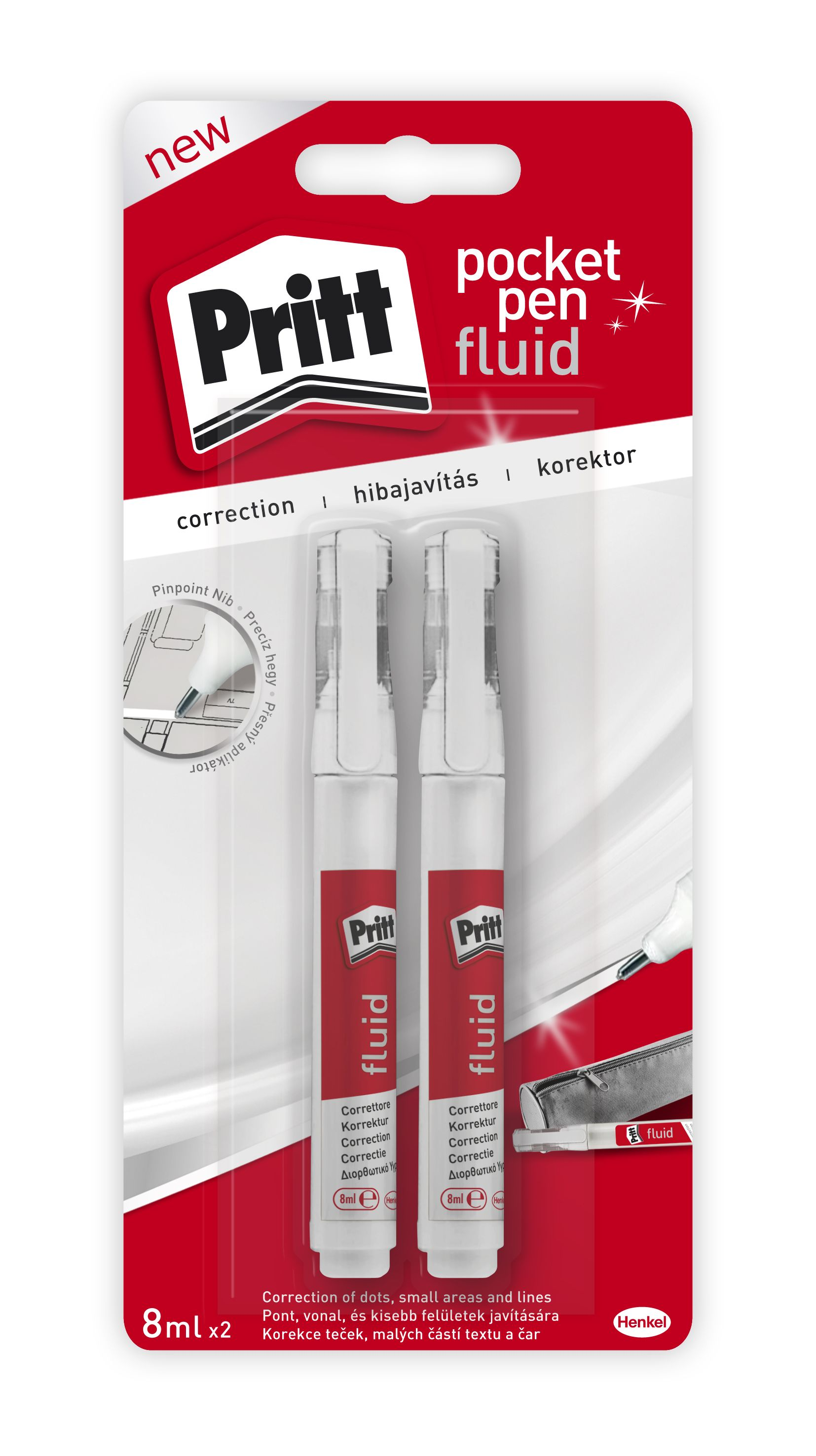 korekční pero PRITT Pocket Pen 2x8ml - - - ks