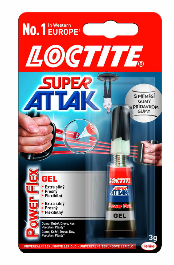Vteřinová lepidla Loctite - Super Attak Power gel 3 g - - - ks