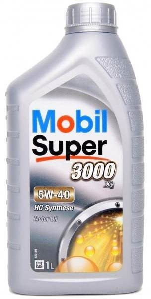 MOBIL SUPER 3000 X1 5W-40. SYNTHETIC 1l - - - ks