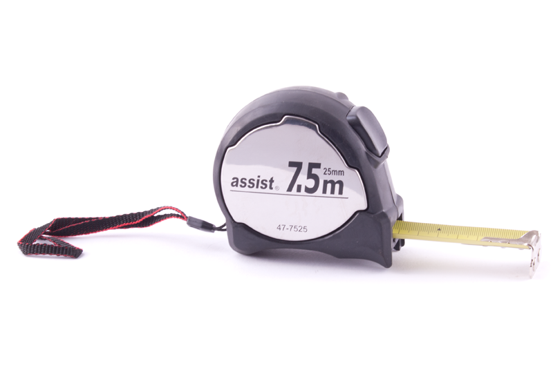 Metr svinovací ASSIST Chrom 7,5m/25mm - - - ks