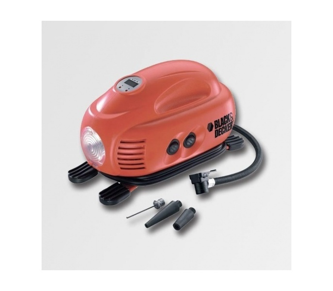 BLACK DECKER ASI200 Kompresor bezolejový, 11L, 8,3 bar, MINI 12V/230V - - - ks
